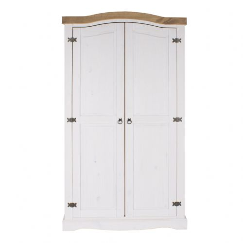 Premium Whitewashed Corona 2 Door Wardrobe